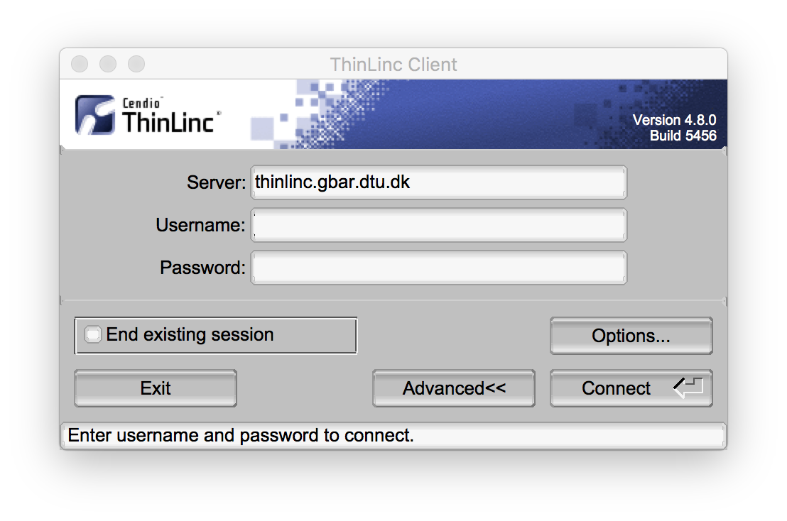 ThinLinc Access prompt